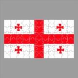Bandera del rompecabezas de Georgia en fondo gris stock de ilustración