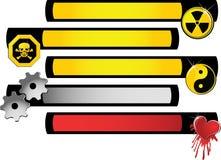 Bandera del símbolo Stock de ilustración