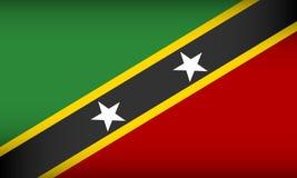 Bandera del santo San Cristobal y Nevis libre illustration