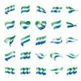 Bandera del Sierra Leone, ejemplo del vector Imágenes de archivo libres de regalías