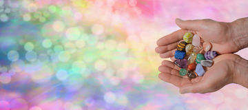 Bandera del sitio web de Crystal Healer Fotos de archivo libres de regalías