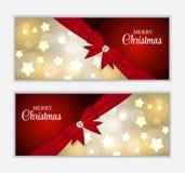 Bandera del sitio web de la Navidad y fondo de la tarjeta Foto de archivo