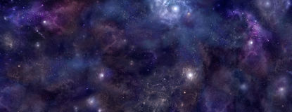 Bandera del sitio web del fondo del espacio profundo Foto de archivo libre de regalías