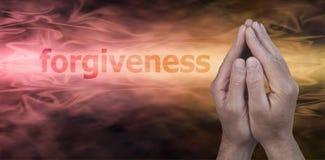 Bandera del sitio web del perdón Imagen de archivo