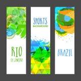 Bandera del sitio web fijada para el concepto de los deportes Fotografía de archivo