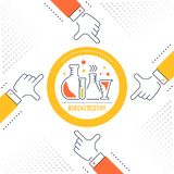 Bandera del sitio web y página del aterrizaje de la bioquímica libre illustration