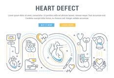 Bandera del sitio web y página del aterrizaje del defecto del corazón libre illustration