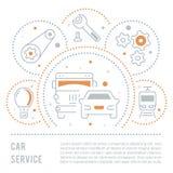 Bandera del sitio web y página del aterrizaje del servicio del coche Imágenes de archivo libres de regalías