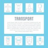Bandera del sitio web y página del aterrizaje del transporte Fotos de archivo libres de regalías