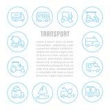Bandera del sitio web y página del aterrizaje del transporte Imágenes de archivo libres de regalías