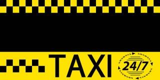 Bandera del taxi de la tarjeta de visita Fotografía de archivo