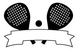 Bandera del tenis de Padel stock de ilustración