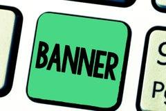 Bandera del texto de la escritura de la palabra El concepto del negocio para el lema o el diseño largo del transporte del paño de foto de archivo