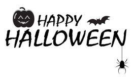 Bandera del texto del feliz Halloween Foto de archivo
