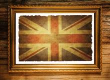 Bandera del Union Jack en marco Imágenes de archivo libres de regalías