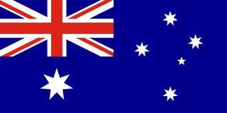 Bandera del vector de Australia Fotografía de archivo libre de regalías
