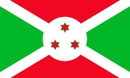 Bandera del vector de Burundi libre illustration