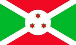 Bandera del vector de Burundi stock de ilustración