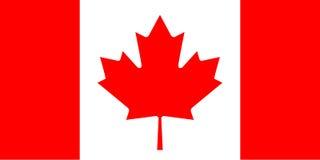 Bandera del vector de Canadá Imagen de archivo