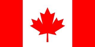 Bandera del vector de Canadá Fotos de archivo
