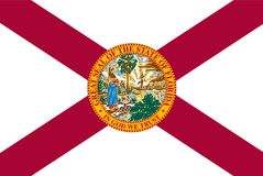 Bandera del vector de estado de la Florida ilustración del vector
