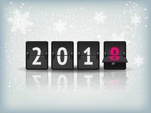 Bandera del vector de la cuenta descendiente del Año Nuevo Fotografía de archivo libre de regalías