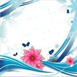 Bandera del vector de la flor Fotografía de archivo