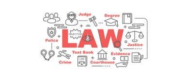 Bandera del vector de la ley Imagen de archivo libre de regalías