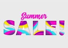 Bandera del vector de la venta del verano en fondo aislado Brillante de moda Fotografía de archivo