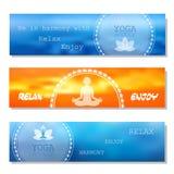 Bandera del vector de la yoga stock de ilustración