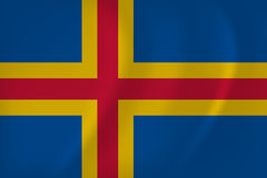Bandera del vector de las islas de Aland libre illustration
