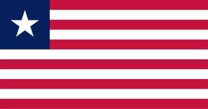 Bandera del vector de Liberia 10:19 de la proporción Bandera nacional liberiana La Rep?blica de Liberia libre illustration