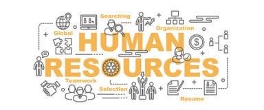 Bandera del vector de los recursos humanos libre illustration