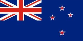Bandera del vector de Nueva Zelanda Bandera de Nueva Zelanda Imágenes de archivo libres de regalías