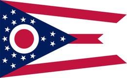 Bandera del vector de Ohio Ilustración Los Estados Unidos de América imagen de archivo libre de regalías