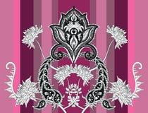 Bandera del vector de Paisley del crisantemo Imagenes de archivo
