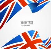 Bandera del vector de Reino Unido Frontera Fotos de archivo