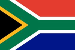 Bandera del vector de Sur?frica 2:3 de la proporci?n Bandera nacional surafricana La Rep?blica Surafricana stock de ilustración