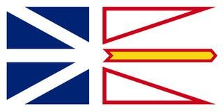 Bandera del vector de Terranova y de Labrador Canadá St Johns imagen de archivo