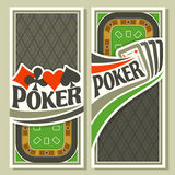 Bandera del vector del póker del holdem Imagen de archivo libre de regalías