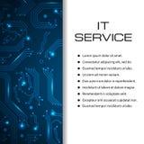 Bandera del vector del servicio de las TIC Puede ser utilizado para el diseño web, plantilla del folleto Foto de archivo