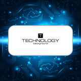 Bandera del vector del servicio de las TIC Puede ser utilizado para el diseño web, plantilla del folleto Imagen de archivo