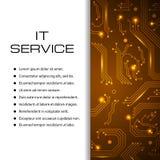 Bandera del vector del servicio de las TIC Puede ser utilizado para el diseño web, plantilla del folleto Fotografía de archivo
