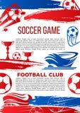 Bandera del vector para el juego de la liga de la universidad del fútbol Imagen de archivo libre de regalías