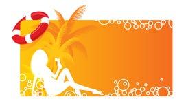 Bandera del verano libre illustration
