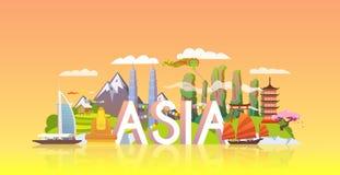 Bandera del viaje Viaje a Asia Imagenes de archivo
