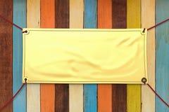 Bandera del vinilo del oro fotografía de archivo