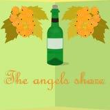 Bandera del vino Foto de archivo libre de regalías
