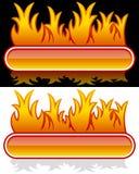 Bandera del Web con la llama Fotografía de archivo libre de regalías