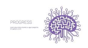 Bandera del web de la plantilla del concepto del negocio del desarrollo del progreso con el espacio de la copia stock de ilustración